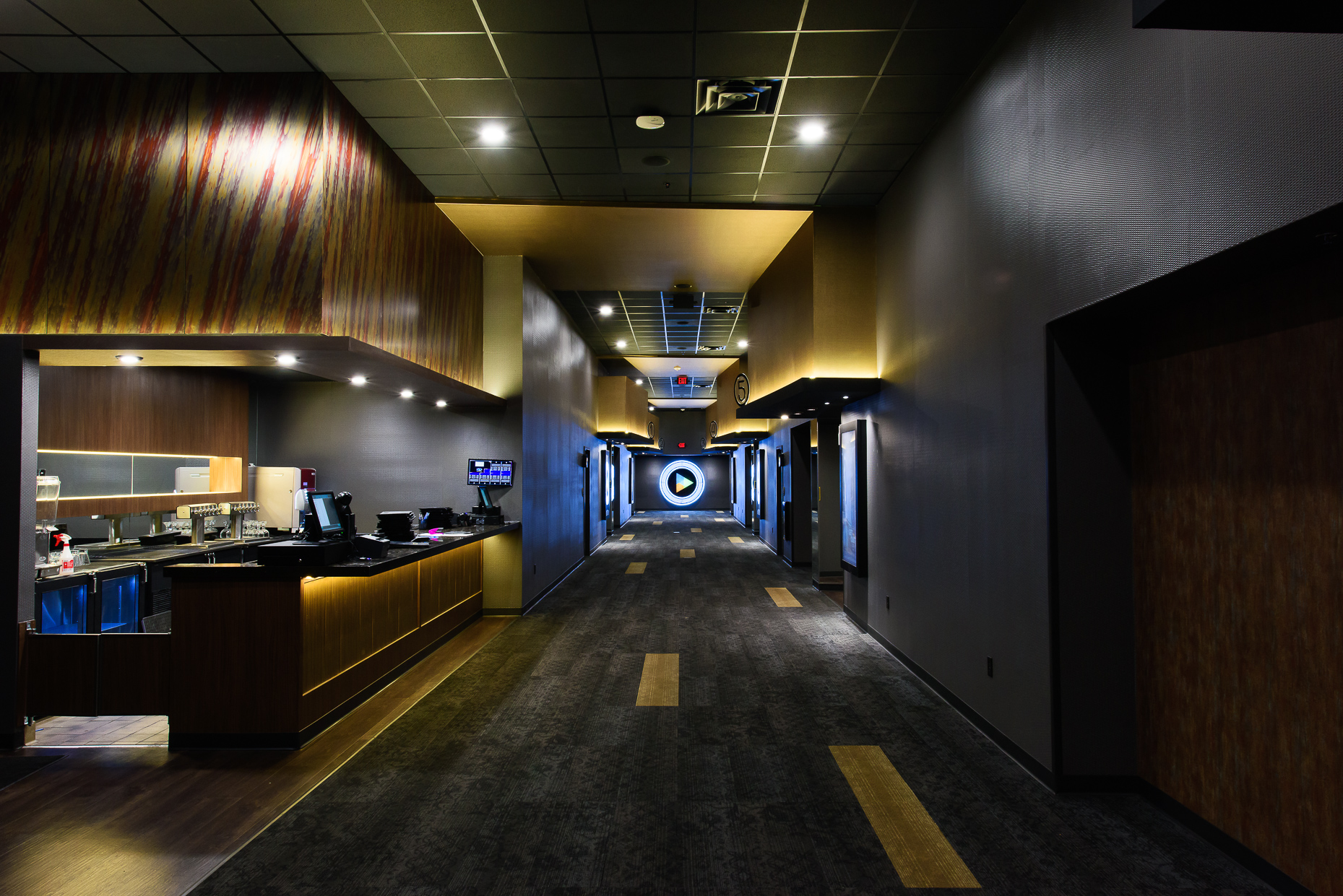 Austin-Texas-Commercial-Architectural-Interior-Photographers-movie-theater-Hallway