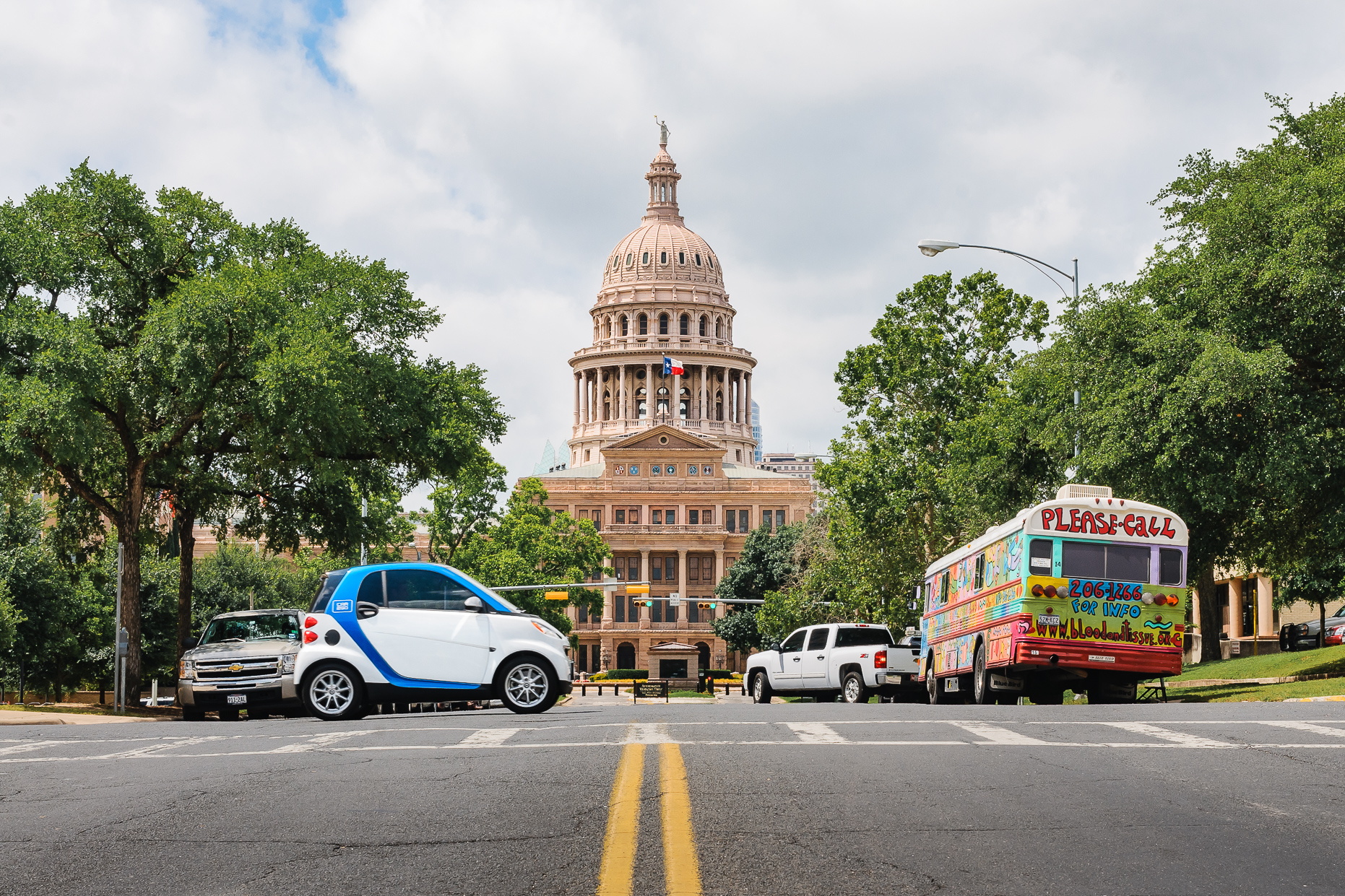 Austin-Commercial-Photographers-Product- car2go-texas-capitol-downtown-street