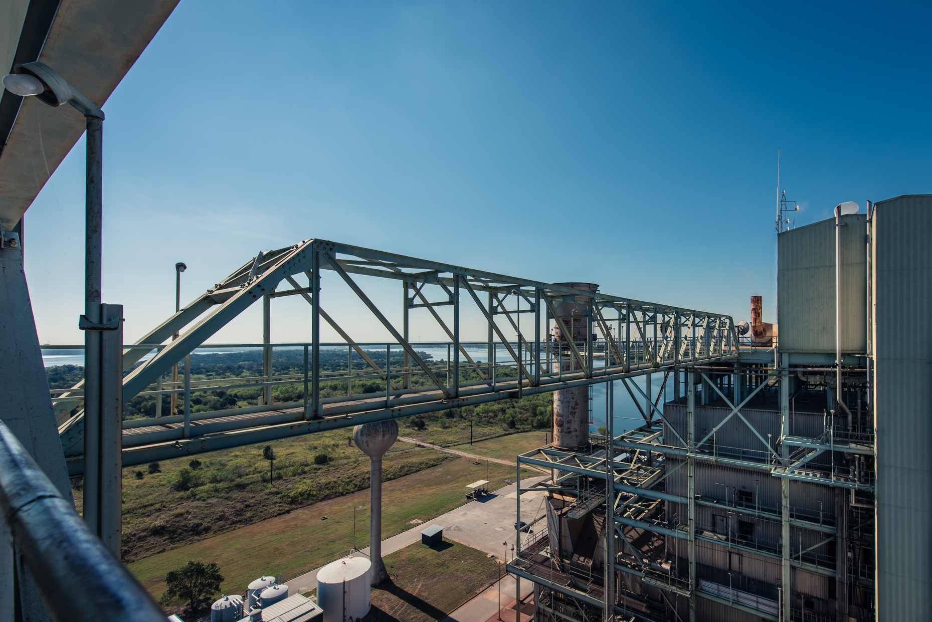 Commercial-Texas-Industrial-photographers-Austin-Energy-power-plant-bridge-exterior-steel